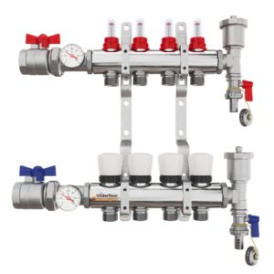 the underfloor heating company 4 port manifold complete kit