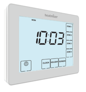 Heatmiser TM4-TS V2 Time Clock - 230v 4 Channel The Underfloor Heating Company