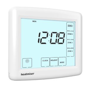 Heatmiser TM4-TS Time Clock - 230v 4 Channel The Underfloor Heating Company