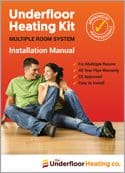 Multi Room Wet Underfloor Heating Overlay Kit - High Output UFH The Underfloor Heating Company