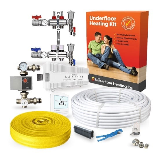 Multi Room Wet Underfloor Heating Screed Kit – Standard Output UFH