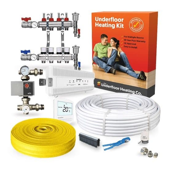 Wet Underfloor Heating: Multi Room Screed Kit (High Output)