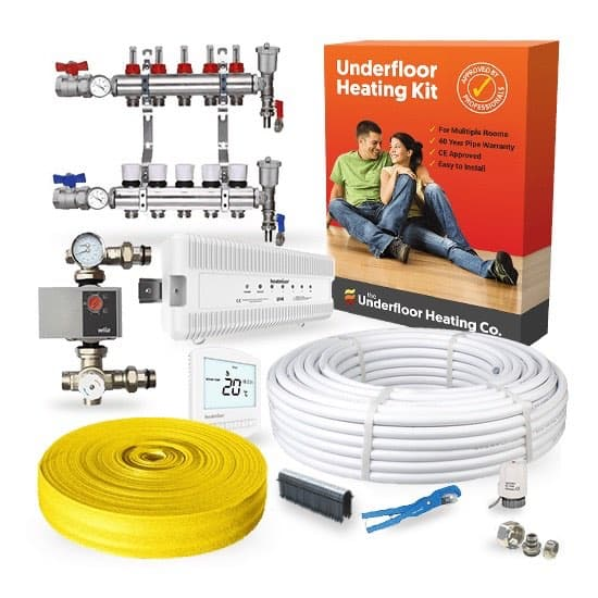 Water Underfloor Heating Single Room Screed Kits The Underfloor Heating Company
