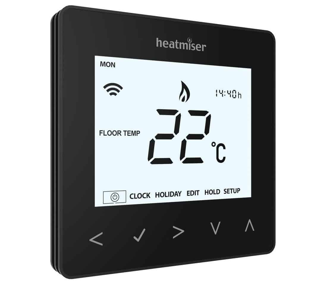 Heatmiser neoAir Thermostat – Sapphire Black (Smart Home)