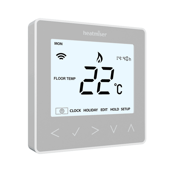 Heatmiser neoStat V2, Platinum Silver – Thermostat (UFH)