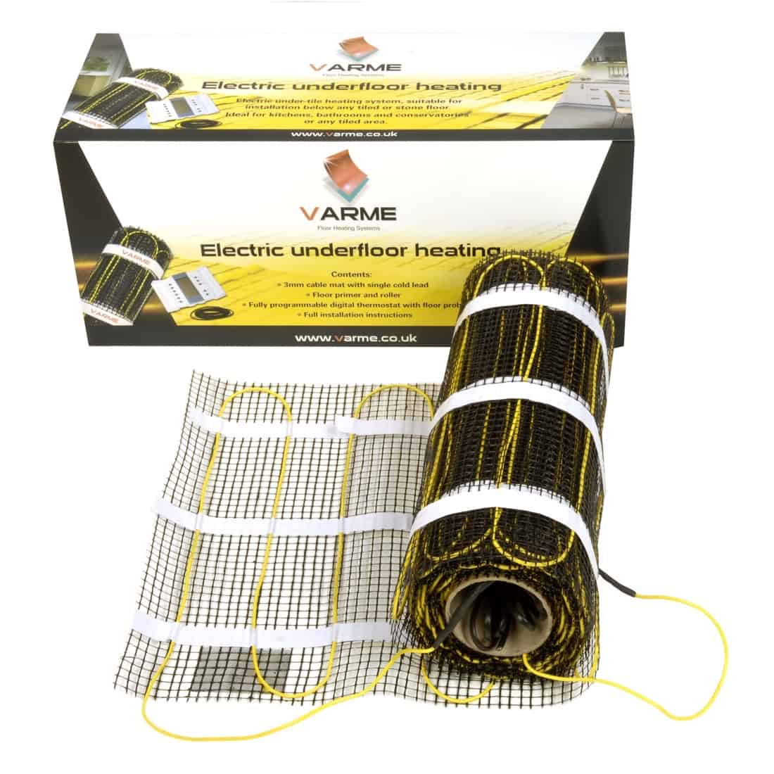 varme electric underfloor heating cable mat kit the underfloor heating company