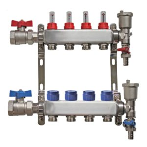 4 port stainless steel manifold the underfloor heating company