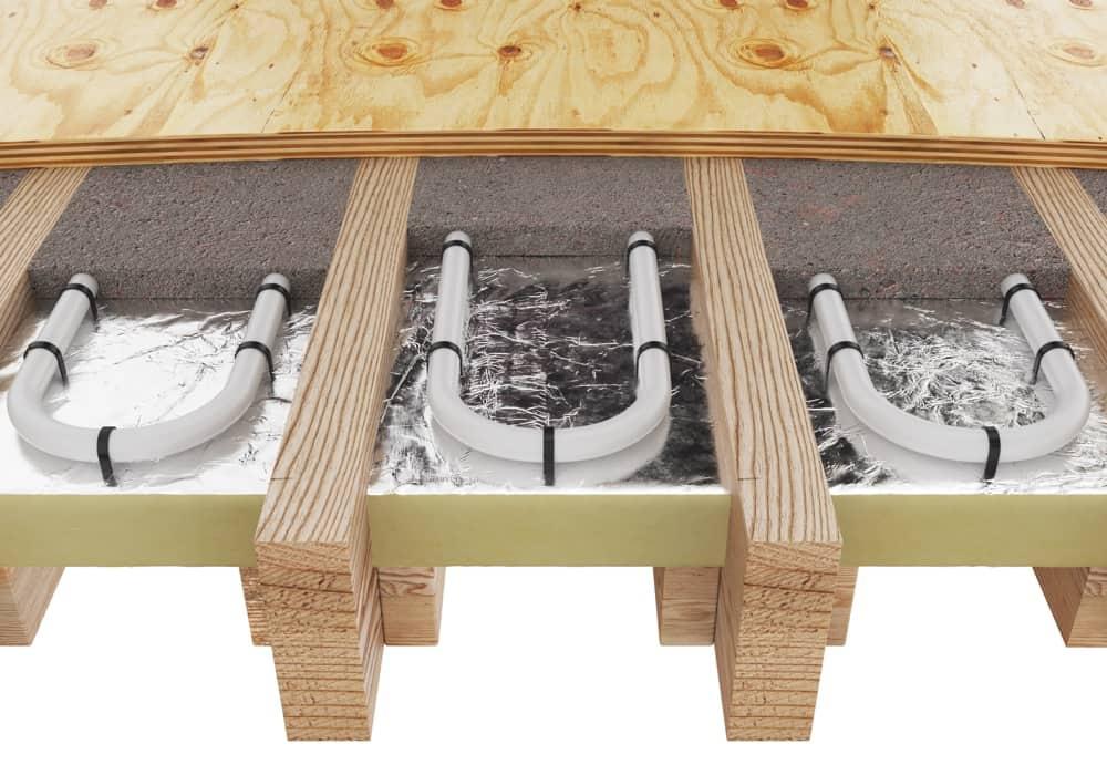 Water Underfloor Heating over Joists The Underfloor Heating Company