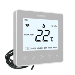 Heatmiser neoStat-E V2 - Platinum Silver The Underfloor Heating Company