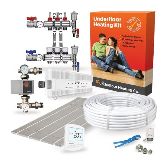 Multi Room Wet Underfloor Heating Overlay Kit – High Output UFH