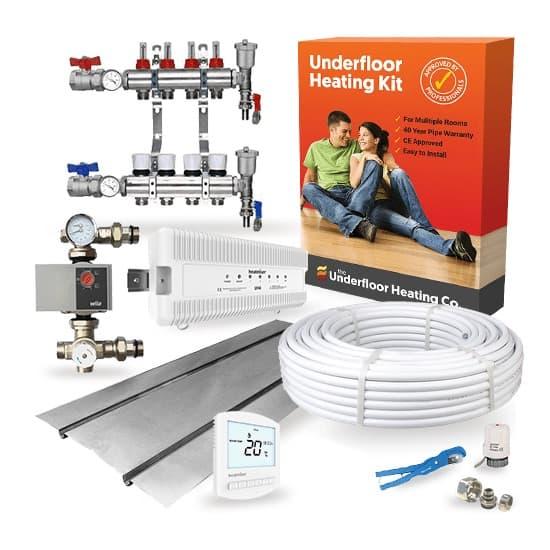 Multi Room Wet Underfloor Heating Joist Kit – Standard Output UFH