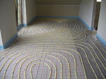 Underfloor Heating water pipes