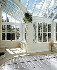 Underfloor heating conservatory