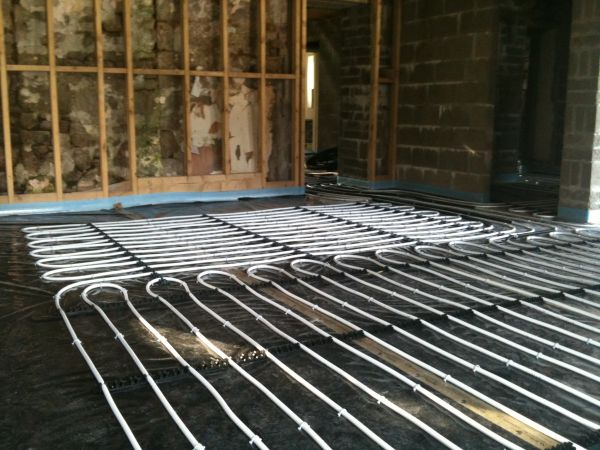 Underfloor heating ready for screed